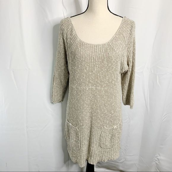 Free People Sweaters - Free People M Knit Pocket Back Button Sweater